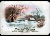 IMAGE CHROMO CHOCOLAT POULAIN / VILLA en hiver