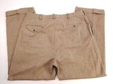 Polo Ralph Lauren Herringbone Wool Blend Pleated Mens Tweed Dress Pants 36x29
