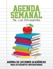 Agenda Semanal de Los Estudiantes Agenda de Lecciones Academicas Para Estudiante