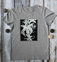 Men Dark Flower Regular Grey Short Sleeve 100% Cotton T-Shirt UK Size M by Kiabi