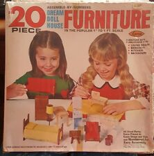 Arrow 1978 Dream Doll House Furniture Assemble Kit Mid Century Dollhouse SEALED