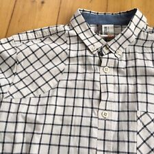 Plectrum By Ben Sherman Long Sleeve Shirt. Medium. Cream Check. Mint Condition