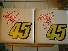 Adam Petty Seat Cushions Used #45 Richard Petty Racing Nascar Chevrolet Pontiac