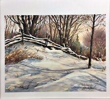 Matthews, Edwin-Winter Shadows-Landscape-Art For Sale