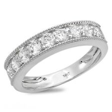 1 Ct Round 9 Stone Solid 14k White Gold Engagement Wedding Anniversary Band Ring