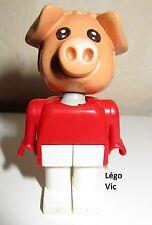 Légo x599c04 Fabuland Personnage Figure Cochon Pig 4 du 3711 3631