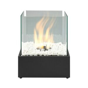 Square Bio Ethanol Fireplace Tabletop Firebox Burner Indoor Outdoor Heater