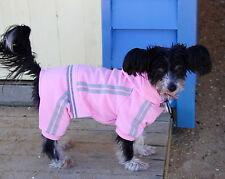 Dog tracksuit 20-50cm small- xxxlarge dogs, pink fleece, 4 legs and hood NEW