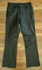 Jou Jou Skins 100% Black Leather Bootcut Pants Women's Size 7/8 27-28 W x 30  b6
