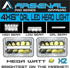 4x6 inch Pro Kenworth Peterbilt LED Rectangular DRL Sealed Beam Headlight 2pcs