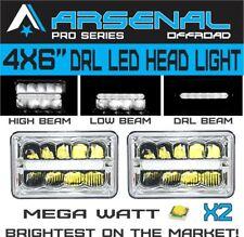 4x6 inch Pro Kenworth Peterbilt LED Rectangular DRL Sealed Beam Headlight 2pcs