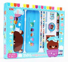 Cartoon Brown Bear Stationery Set School Educational Birthday Party Kids Gift