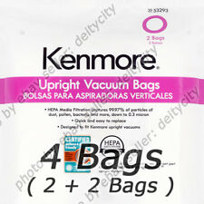 GENUINE 4 Pack Kenmore 53293 Style O HEPA Vacuum Cleaner Bags for Upright Type