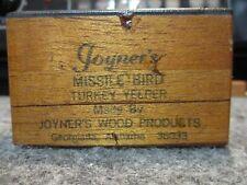 Vintage Joyner'S Missile Bird Turkey Call Yelper Georgiana Alabama