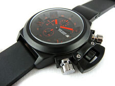 Black Chronograph Military Steel Sport Welder Diving Type Boat Watch Sub U TW