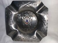 "VINTAGE UNITED STATES AIR FORCE ACADEMY METAL ASHTRAY  4"" DIAMETER USED RARE"