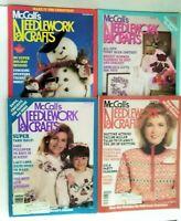 Lot of 4 McCall's Needlework & Crafts Magazine Oct 1987 Jan June December 1988
