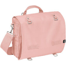 BRANDIT LARGE CANVAS BAG SPORT SHOULDER PACK COTTON SCHOOL MESSENGER PIGGY PINK