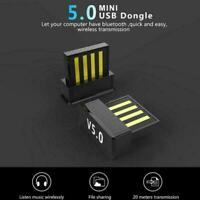 Bluetooth V5.0 Wireless USB Mini Dongle Adapter For Windows Win7 Laptop T1Y5