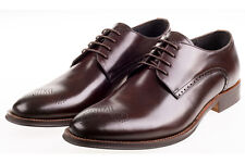 Blanc John CHURCHILL Mollet Chaussures/Marron-UK11 SRP £ 120.00 Liquidation