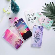 New Colorful Light Landscape Hard PC Cover Phone Case For iPhone 6 6s 7 8 Plus X