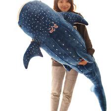 "150cm/59"" Big Whale Plush Toy Giant Blue Shark Stuffed Animal Pillow Gift 2020"