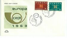 Europa Luxembourg CEPT 1963 First Day Cover F.D.C. Unaddressed