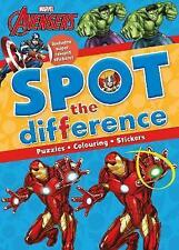 Marvel Avengers Spot the Difference: Includes Super Reward Stickers! by Parragon (Paperback, 2017)