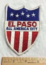 El Paso Texas TX All America City Red White Blue Stars Stripes Souvenir Patch