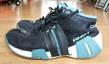 Rare AND1 Mens Master Mid Basketball Shoes Trainers UK Size 9 Blue Black White