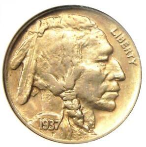 1937-D 3 Legs Buffalo Nickel 5C Coin (Three Legged) - Certified NGC AU58 - Rare!