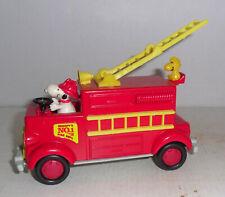 Aviva Toy Co. diecast Snoopy & Woodstock Fire Truck - 5-Inch - exc!