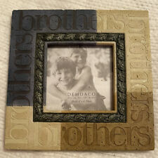 Demdaco Brothers Frame, 4�x4� photo size, Frame is 7.5�x7.5�Stonelook,Ex cellent