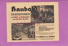 Chemnitz, Pubblicità 1942, C. G. Haubold AG großleistungs-CENTRIFUGHE-Fabbrica