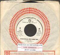 Gossett, Lou - Where Have All The Flowers WB 7078 Vinyl 45 rpm Record