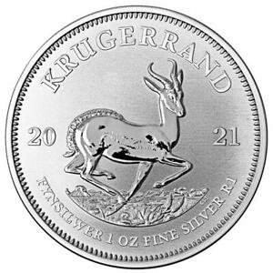 Südafrika - 1 Rand 2021 - Krügerrand - Anlagemünze - 1 Oz Silber ST