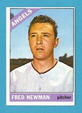 1966 Topps Baseball Card #213 Fred Newman (California Angels) EX AJ00124