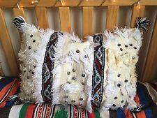 Moroccan Wedding Blanket Cushion Cover Cream Handira JC