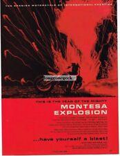 1966 Montesa  250cc La Cross Scrambler Special Motorcycle Explosion Vtg Print Ad