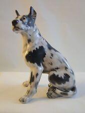 Dahl Jensen DJ Copenhagen Denmark Porcelain Figurine # 1128 Great Dane Dog Royal