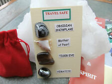 TRAVEL SAFE a Gemstone pack (Themed) inc. 2 GUIDE BOOKS  & a Red Velvet pouch.