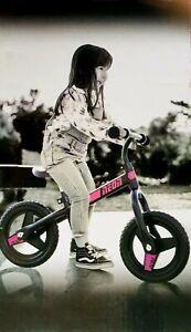 "Christmas Gift Neon Balance Bike 12"" Pink & Black New Age 2-4 Max Birthday gift"