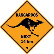 Autocollant sticker panneau route australie kangourou kangaroo