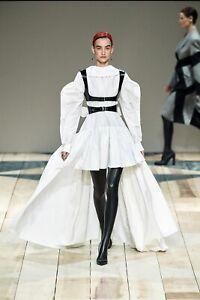 Alexander mcqueen Cotton Silk Poet Sleeve Dress