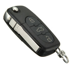 3 Button Remote Key Fob Case Shell Blade HAA for Audi A2 A3 A4 A6 A8 TT Black