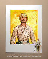 Star Wars LUKE FARMBOY Vintage Kenner Action Figure ORIGINAL ART PRINT 3.75