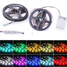 5050 RGB LED Strip Light with Battery Box Waterproof Craft Hobby Lighting 100CM