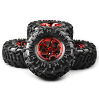 4X 130mm 1/10 Bigfoot Tires&Wheel Set 12mm Hex For RC Monster Truck Climbing Car