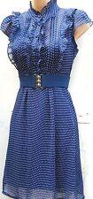 Taille 16 18 Années 40 WW2 Landgirl Style Vintage Thé Robe Pois # US 14 EU 44