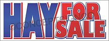 4'X10' HAY FOR SALE BANNER Outdoor Sign XL Fresh Cut Grass Alfalfa Bales Horses